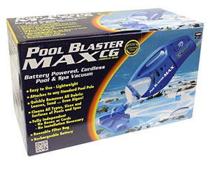 Water Tech Pool Blaster Max CG Handheld Battery Cleaner Vacuum + Telescopic Pole