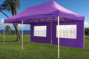 10'x20' Pop UP Canopy Wedding Party Tent Instant EZ UP Canopy Purple - F Model Commercial Frame By DELTA