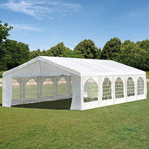 Overwhelming 16ftX32ft Party Tent Heavy Duty Wedding Tent Outdoor Gazebo Canopy with Carry Bags