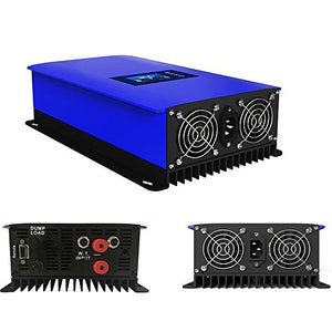 iMeshbean 1000W MPPT Wind Grid Tie Power Inverter Home Power Generator System DC 22-60V to AC 110V Pure Sine Wave with Dump Load.Built-in Limiter & WIFI APP Control Port USA