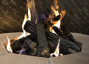 "24"" Charred Campfire Gas Fire Pit Log Set"