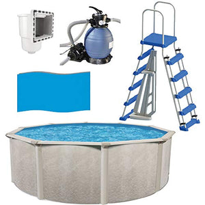 "Cornelius Phoenix 18' x 52"" Above Ground Pool with Sand Filter, Ladder, Liner + Skimmer"