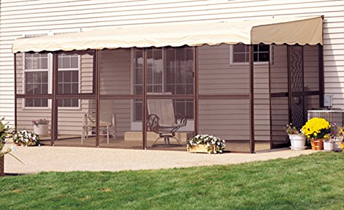 Patio-Mate 9-Panel Screen Enclosure Model 99165 Brown With