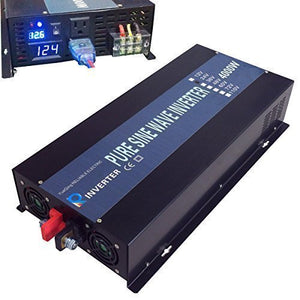 WZRELB Reliable 4000W Solar Power Inverter 12VDC To 120V AC Off Grid Pure Sine Wave Inverter LED Display