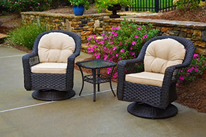 Tortuga Outdoor Biloxi 3pc Bistro Set - Espresso Wicker