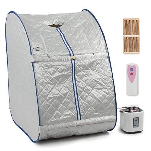 47f3585ca Bellavie Portable Steam Sauna Pop-Up Foldable Therapeutic Personal Slimming  Spa Home Indoor + Chair