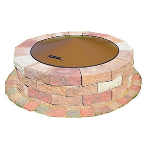 "42"" Round Metal Fire Pit Campfire Ring Spark Screen Cover Lid"