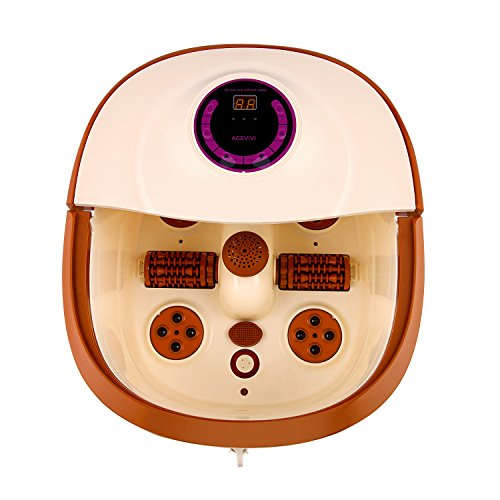 Anfan Foot Spa Massage with Motorized Rolling Massage,Adjustable Temperature Control | Relaxing Foot Bath, 500W