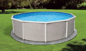 "Blue Wave NB2508 24' Round 48"" Belize Steel Pool in"