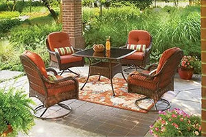 5-Piece Patio Dining Set, Seats 4, deck, chairs, comfort, lounge, bbq, furniture, outside, weather, rain, party