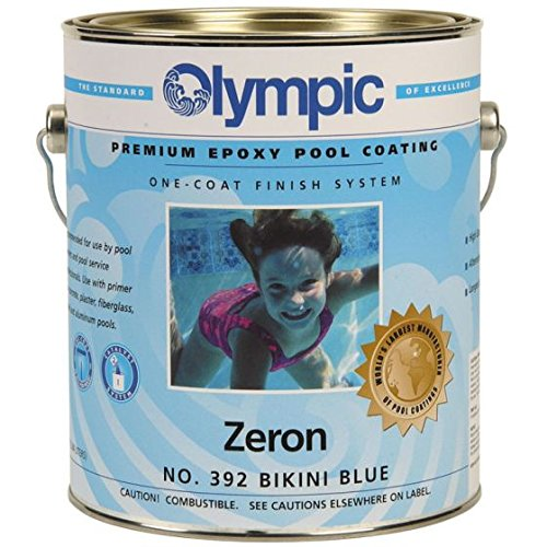 Olympic Zeron One-Coat Epoxy Swimming Pool Paint - 12 Pack Blue Ice