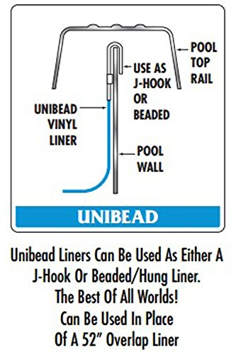 Smartline 24-Foot Round Mystri Gold Liner | Unibead Style | 52-Inch Wall Height | 25 Gauge Virgin Vinyl | Designed for Steel Sided Above-Ground Swimming Pools
