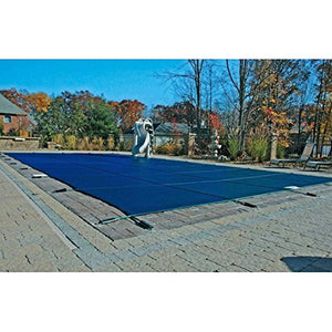 18'x36' Blue Mesh Rectangle Inground Safety Pool Cover - 12 Year Warranty - 18 ft x 36 ft In Ground Winter Cover