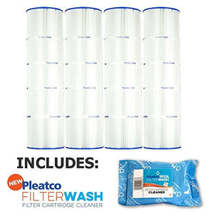 Pleatco Cartridge Filter PCC105-PAK4 Pack of 4 Pentair Clean & Clear Plus 420 Waterway CW425 C-7471 w/ 1x Filter Wash