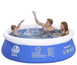 Pool Central Inflatable above Ground Prompt Set Swimming Pool, Blue/White, 8' x 25""