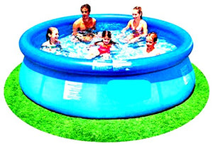 "Above Ground Pool Floats 10' x 30"" Swimming Pools Inflatable Outdoor Garden Waters Family Sports Game With Pump - Skroutz"