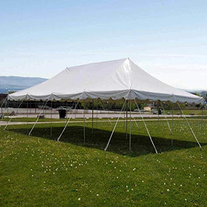 9TRADING 20'x40' Pole Tent Party Wedding Canopy White Commercial Light Weight Vinyl Marquee