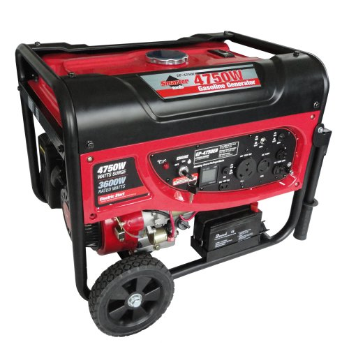 Smarter Tools ST-GP4750EB Portable Gasoline Generator with Electric Start and Battery, 4750-watt