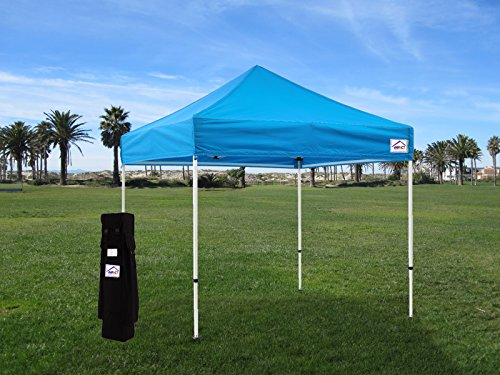 Impact Canopy 10 x 10 Instant Pop Up Canopy Tent, Canopy Mesh Sidewalls,  Frame and Canopy Accessories Included, Royal Blue