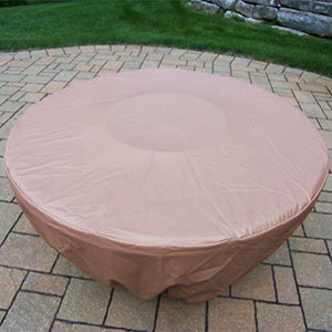 Oakland Living Charleston Round Gas Firepit Table, Antique Bronze