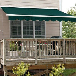 ALEKO AW12X10GREEN39 Retractable Patio Awning 12 x 10 Feet Green