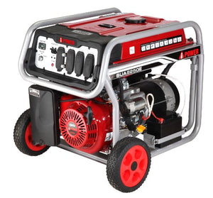 A-iPower SUA8250E 8250W Gasoline Powered Portable Generator with Electric Start, Black/Red
