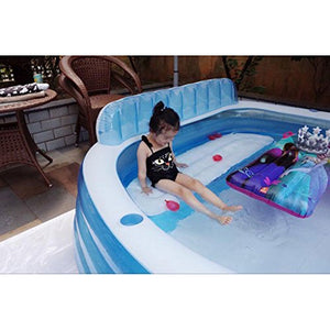 XiYunHan Family swimming pool Backrest Inflatable Baby swimming pool ocean Ball Pool child adult Large 4-5 people