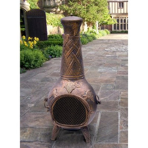 Oakland Living Grape Chimenea, 53-Inch, Antique Bronze