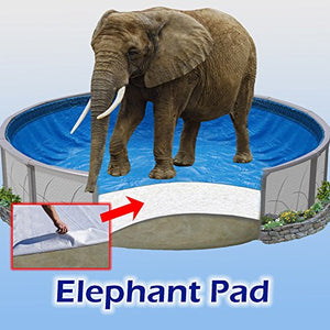 18x33 ft Oval Pool Liner Pad, Elephant Guard Armor Shield Padding