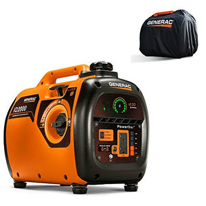 Generac 6901R iQ2000 Inverter Generator 6866 with Storage Cover 6875 Combo Kit (Certified Refurbished)