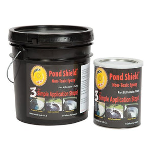Pond Armor SKU-CLEAR-3GA Non-Toxic Pond Shield Epoxy Paint, 3-Gallon, Clear