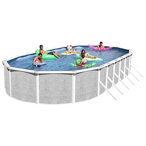 Heritage TA 331852GP-DXP Taos Complete Above Ground Pool, 33-Feet x 18-Feet x 52-Inch