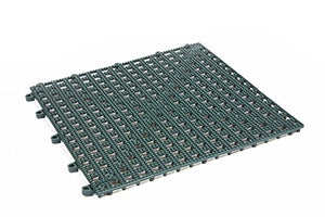 Dri-Dek 1'x1' Interlocking Tiles - Flexible Patio, Porch, Lanai, Balcony, Basement & Pool Deck Flooring (1'x1' Tiles - 50-Pack, Hunter Green)