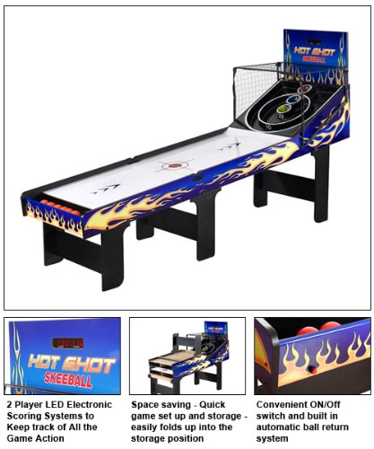 Carmelli NG2015 Hot Shot Skeeball Table,