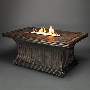 Agio Vienna Gas Fire Pit with Copper Reflective Fire Glass
