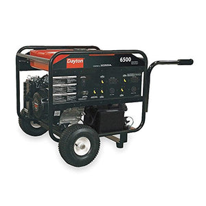 Dayton 2ZRP9 Gasoline Portable Generator 6500W 120/240VAC Electric/Recoil