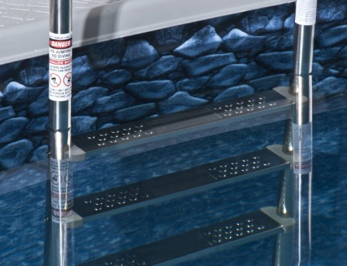 Blue Wave NE1149 Premium Stainless Steel Reverse Bend In-Pool Ladder for Above Ground Pools