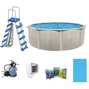 "Cornelius Phoenix 21' x 52"" Steel Frame Above Ground Swimming Pool with Pump & Ladder Kit"