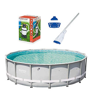 Bestway 16 Foot Frame Pool w/Flowclear Sand Filter Pump & Aqua Powercell Vacuum