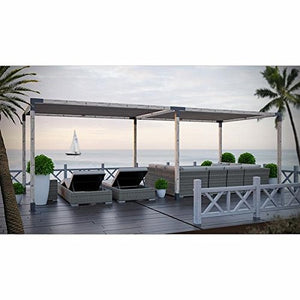 TOJA GRID DP0816GR13 Double System for 4x4 Wood Posts Modular Pergola, Black