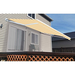ALEKO AW10X8IVORY29 Retractable Patio Awning 10 x 8 Feet Ivory