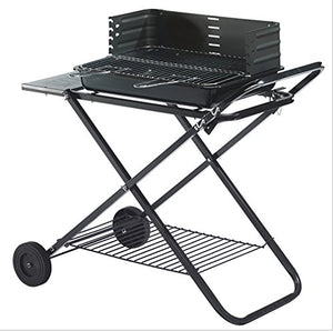 CLODY Outdoor Portable Large Stainless Steel Grill Multifunction Collapsible Charcoal Grill