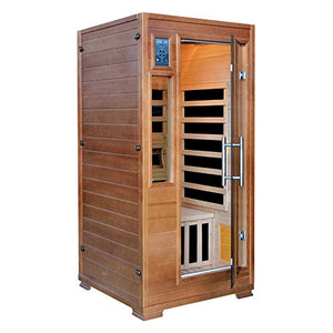 1-Person Hemlock Infrared Sauna with 5 Carbon Heaters