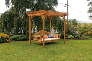 Cedar 8'x10' Pergola ONLY - STAINED- Amish Made USA -Linden Leaf