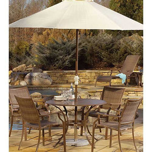 Panama Jack Outdoor Island Cove Woven 5-Piece Slatted Dining Group Set