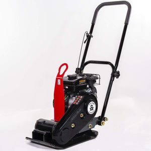 XtremepowerUS 2.5 HP Walk Behind Gas 1920lbs Force Construction Plate Compactor Vibration 79cc Motor LC152F CARB EPA Motor