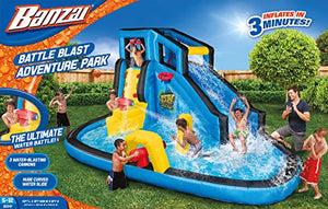 Banzai Battle Blast Adventure Park (Inflatable Water Slide and Splash Cannons)