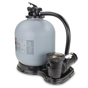 "19"" Above Ground Pool Sand Filter System W/1 H.P Pump (1.5 Horsepower)"