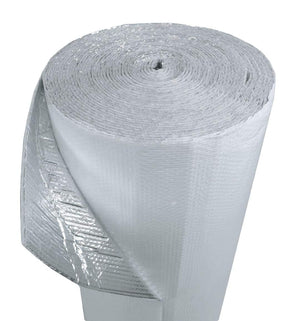 (36inch x 200ft) NASATECH White/Foil Double Bubble (XTemp) Reflective Insulation Radiant Barrier Roll : Metal Building Basement Vapor Barrier Pole Barn Crawlspace Walls Etc - R8