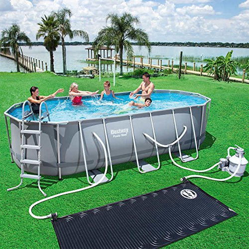 Bestway Power Steel Oval Pool Set Zumo Home